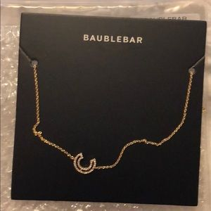 Bauble Bar dainty initial necklace - letter C, NWT